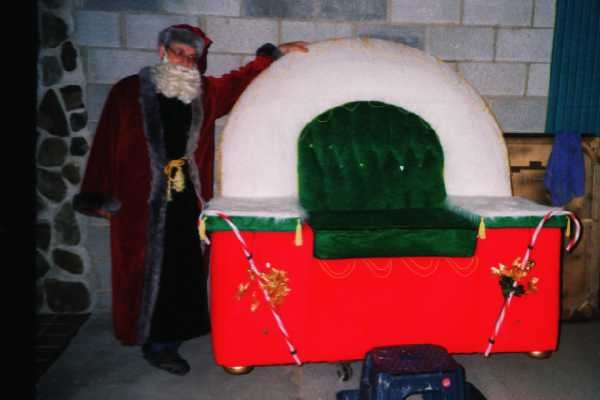 Custom Santa Chair & Costume